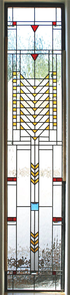 stained glass, geometric, frank lloyd wright style